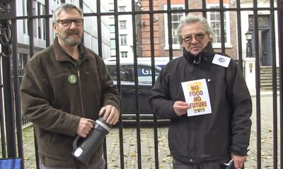 Hunger Strikers outside Conservative party headquarters