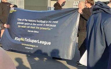Super League Protest